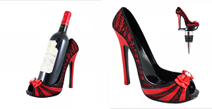 High Heel Wine Bottle Shoe Holder and Stopper